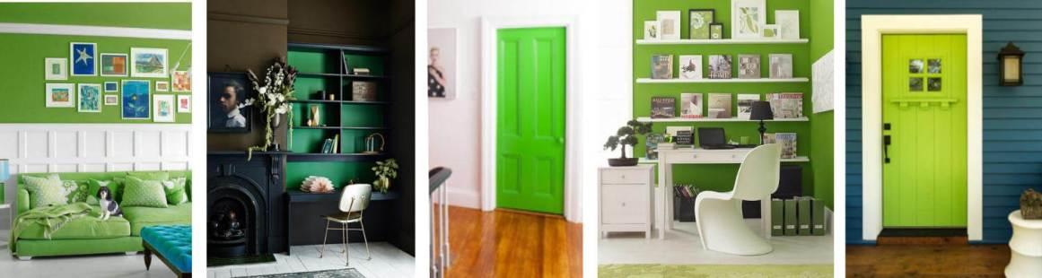 Green Accents colloage