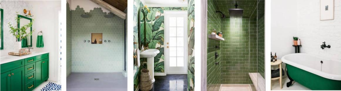 Green Bathroom colloage
