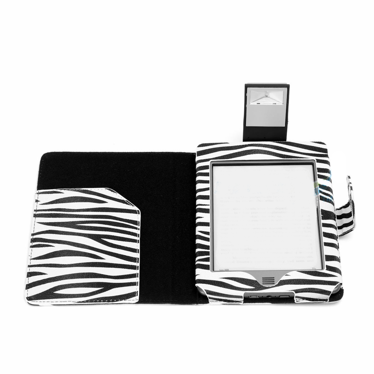 Zebra Print Kindle Touch Case With Slim Led Light