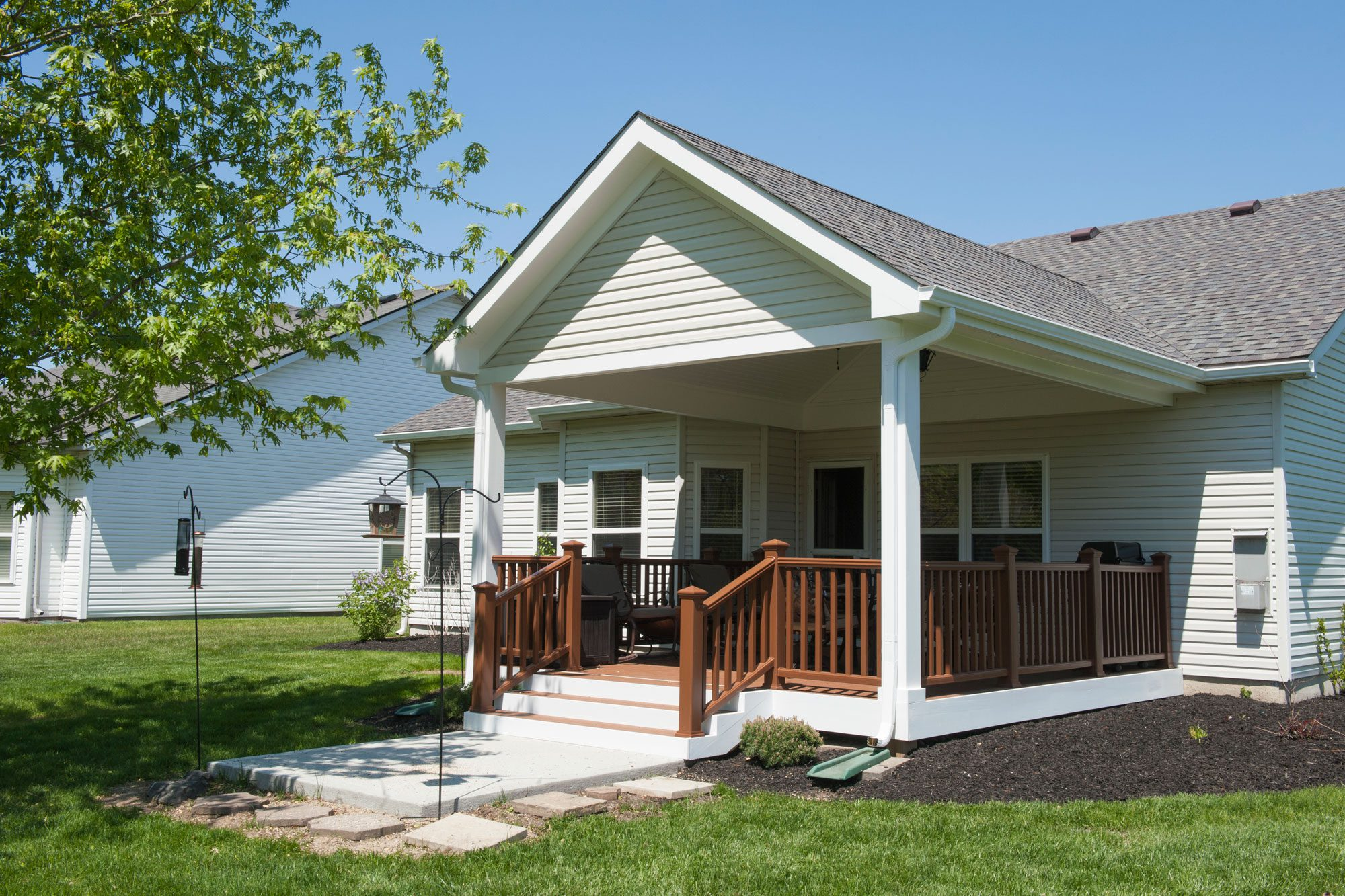 covered porch addition extends the indoors outdoors case indy
