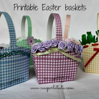 Cestino di Pasqua in carta  da stampare* Printable Easter basket