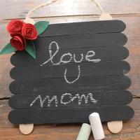 Lavagnetta fai da te con bastoncini dei ghiaccioli * DIY chalkboard with popsicle stick