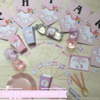Party kit stampabile  a tema Unicorno