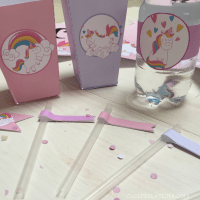 Party kit stampabile  a tema Unicorno