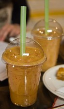 Scarborough Dishcrawl II — Damas Mediterranean Grill and Juice Bar — Banana, Mango and Strawberry Smoothie
