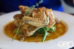 CN Tower — 360 - The Restaurant at the CN Tower — Summer Menu - Prix Fixe — GRILLED LEMON GLAZED CORNISH GAME HEN WITH FRESH SAGE