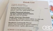 CN Tower — 360 - The Restaurant at the CN Tower — Drink List