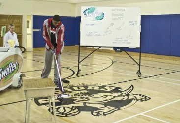 Swiffer Man Clean — Amir tests out the Swiffer WetJet