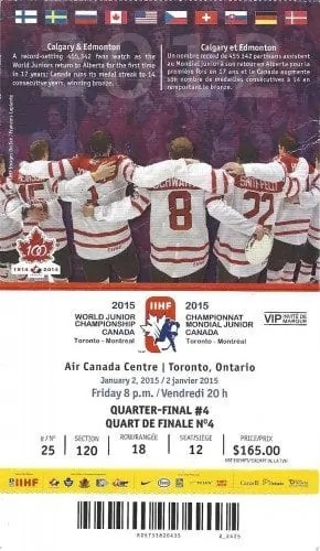 2015 IIHF World Junior Championship — Quarter Final 4 Ticket