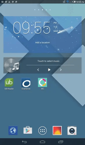 Alcatel OneTouch Pop 8 — Home Screen