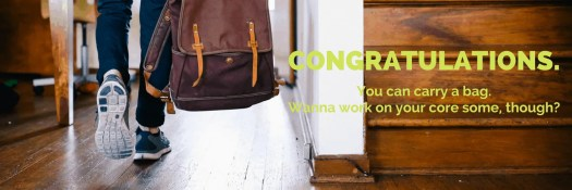 #CarlsCrew x Subway Canada Help Me #BuildAWinner! — CONGRATULATIONS. You can carry a bag. Wanna work on your core some, though