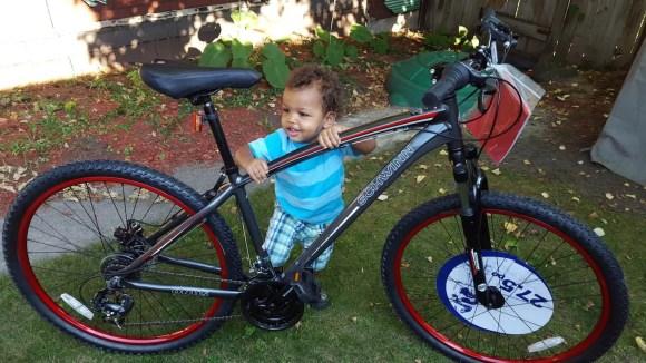 In It to Schwinn It — How the Biking Behemoth Got Me Back on Two Wheels! — The Schwinn Onus in my Backyard with my Son