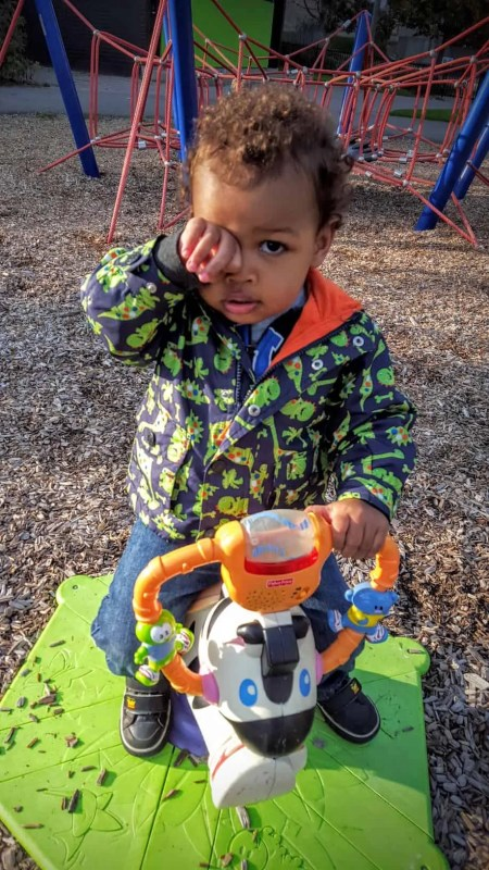 The Week That Was... October 4-10, 2015 — Little Man at the Playground Seeing What He Can See Through His Handy Spyglass