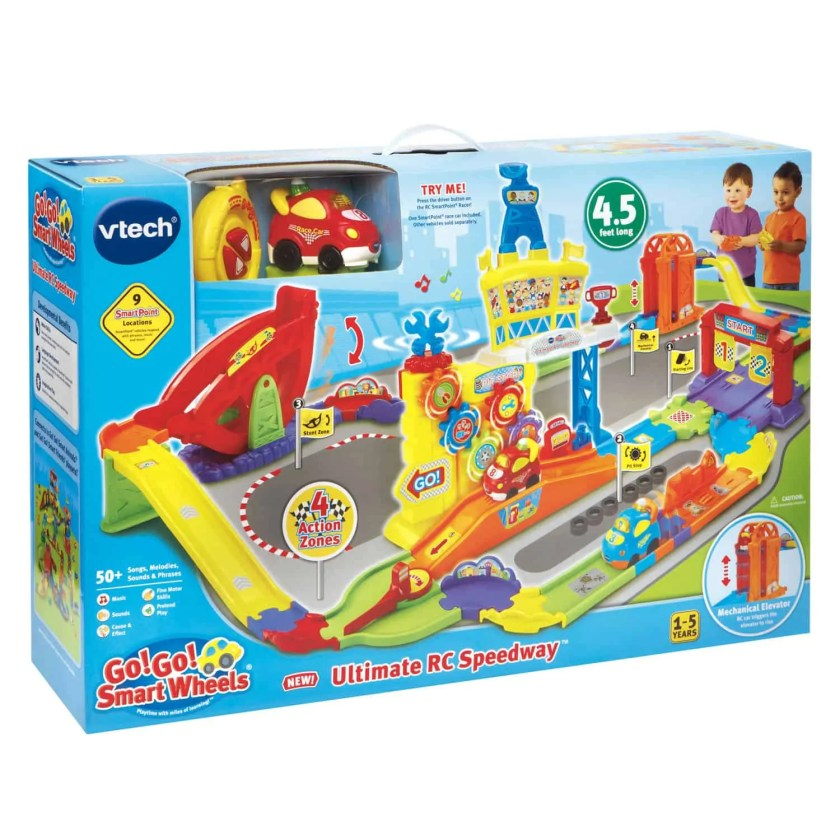 A Case Cringle Christmas, Day 5 — Helping Kids Connect with VTech! — VTech Go! Go! Smart Wheels Ultimate RC Speedway — Packaging
