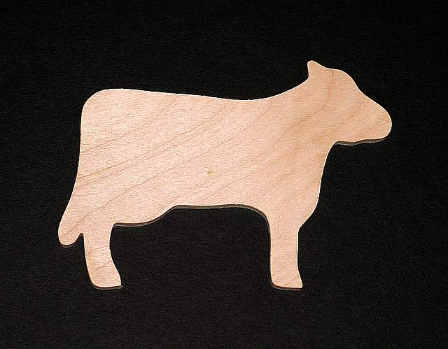 kitchen handles and pulls touchless faucet cow cutout - hand cut plywood [#169a] $0.790 : casey's ...