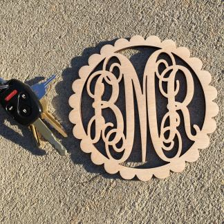 Car Charm Scallop Unpainted