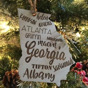 Georgia Christmas Tree Ornament