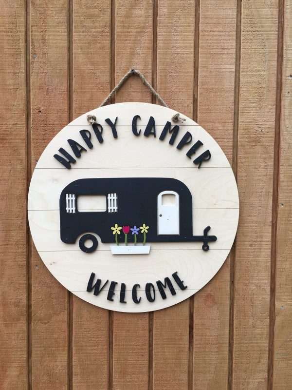 Happy Camper Welcome Sign