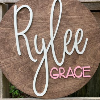 girls wood name sign