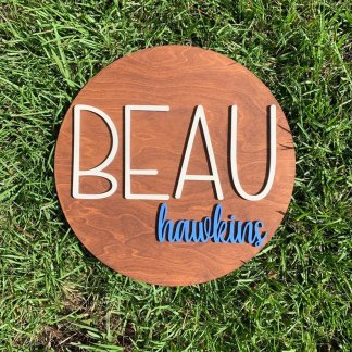 Kids wood name sign