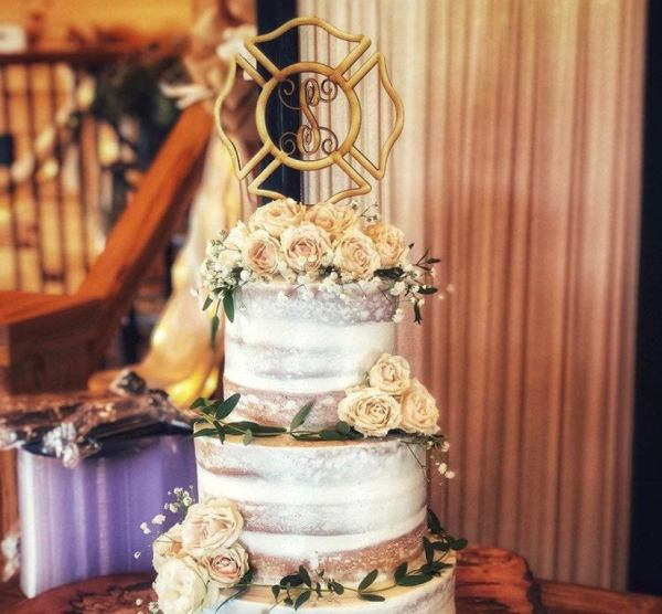 Rustic Maltese Wedding Cake Topper