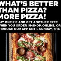 &Pizza offering BOGO deal until July 14th using promo code