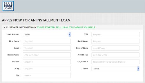 loan applications forms