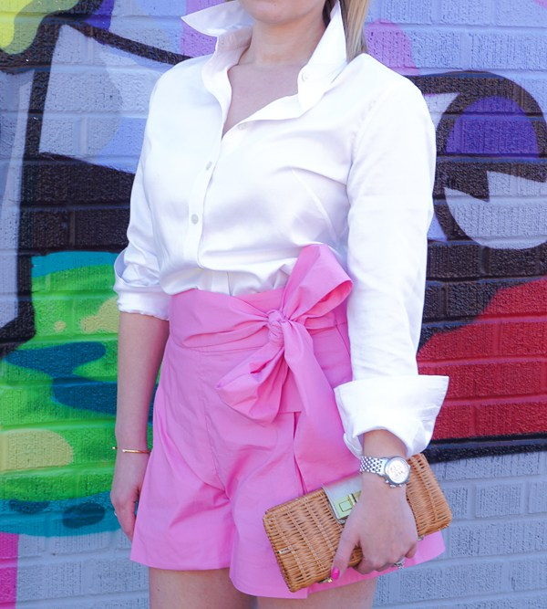 J.Crew Pink Bow Shorts