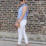 Preppy White Jeans