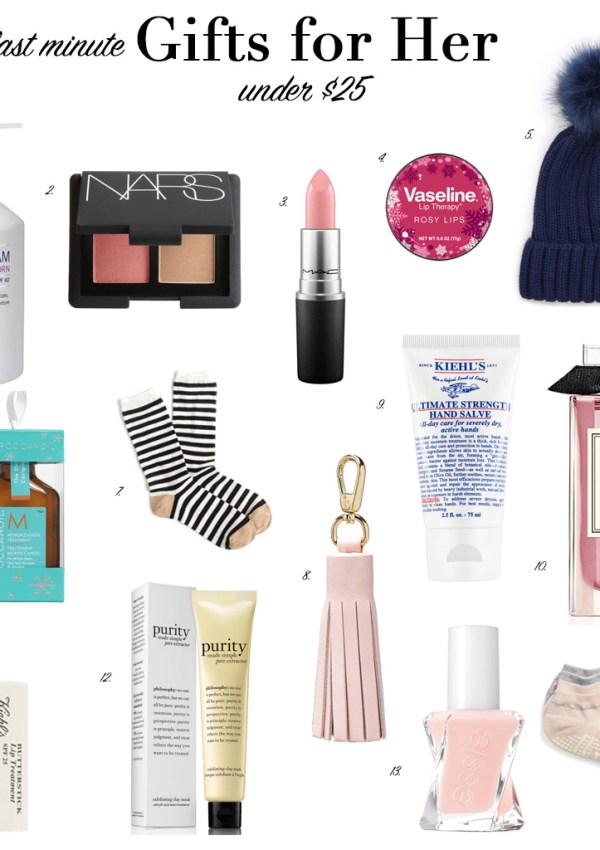 Last Minute Gifts for Her Under $25