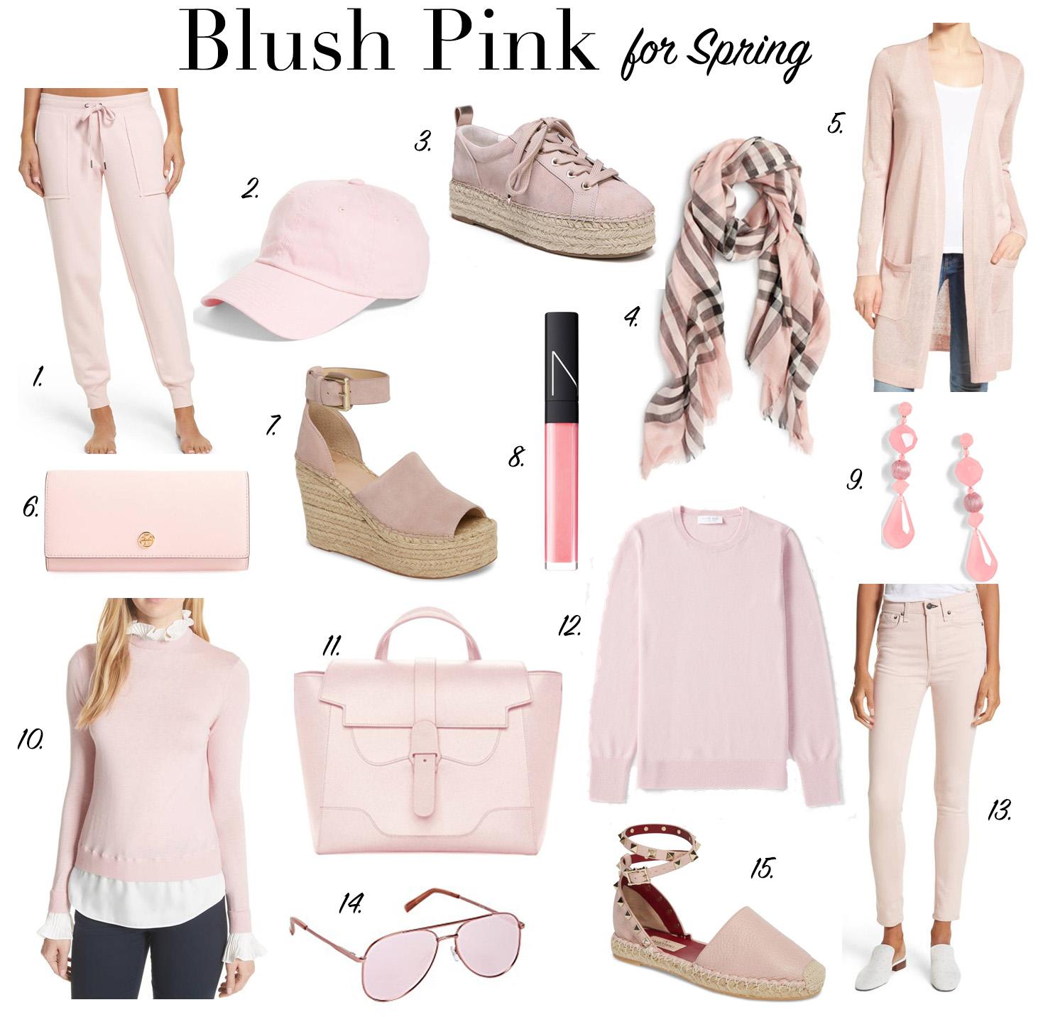 blush pink for spring