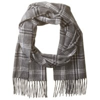 Men's Plaid Cashmere Scarf by Phenix Cashmere - Save 26%