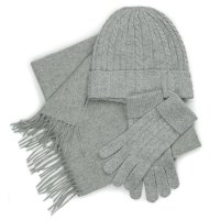 Cashmere Set: Hat, Gloves, and Scarf Gift Box