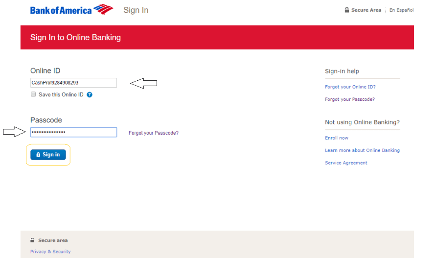 Bank Of America Login How To Sign In And How To Enroll Cashprof