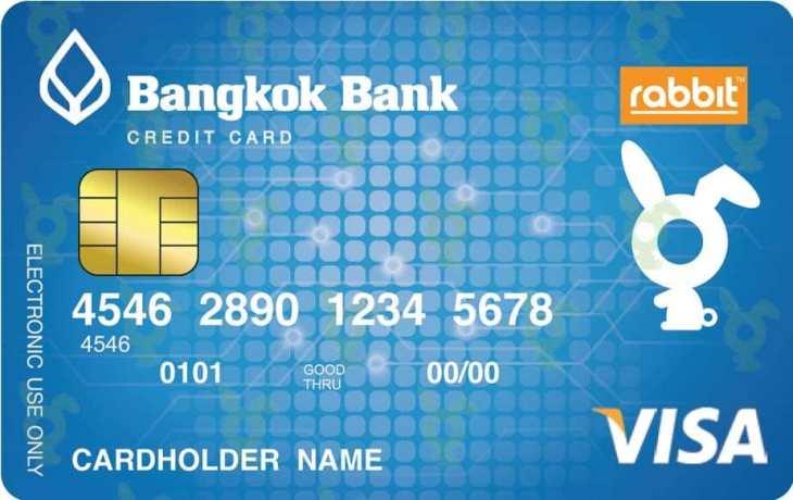 สมัครทำบัตรเครดิตธนาคารกรุงเทพ แรบบิท