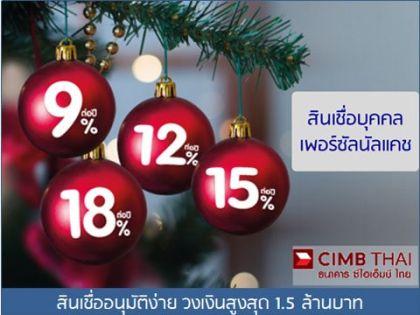 CIMB-สินเชื่อบุคคลอนุมัติง่าย รับเงินเร็ว
