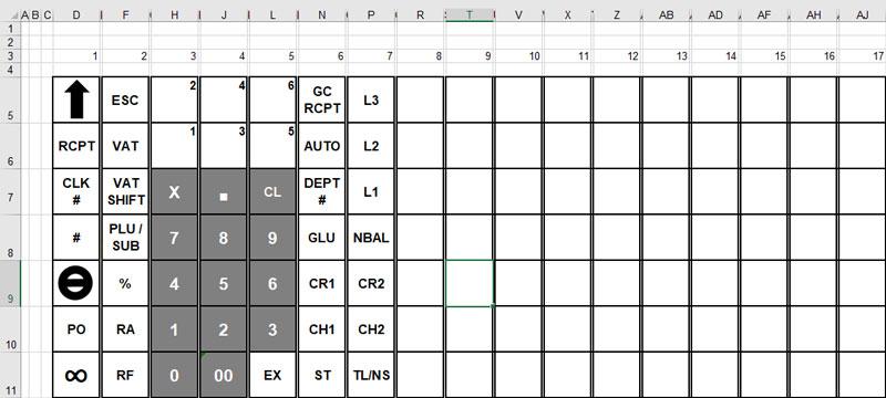 CashRegisterStore.com > Sharp XE-A213 > Keyboard Template