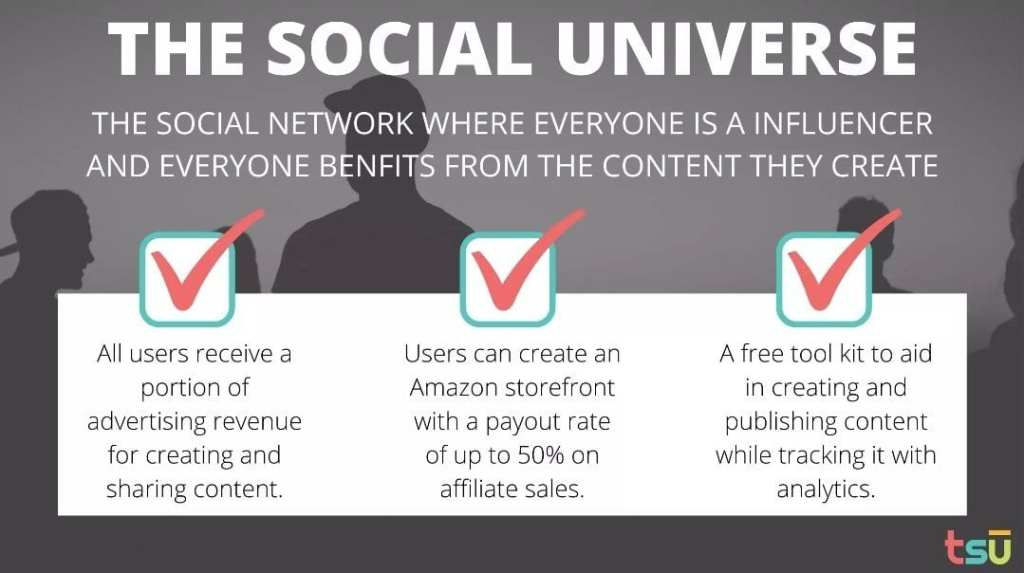 Tsu social platform benefits affiliate revenue earn