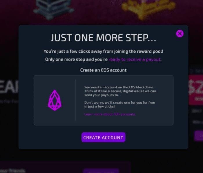Womplay EOS Rewards pool