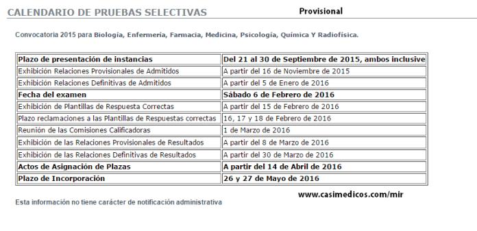 calendarioprovisionalMIR2015