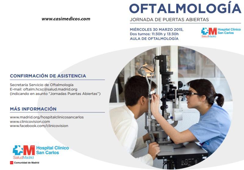Jornada De Puertas Abiertas Oftalmolog A Hospital Cl Nico