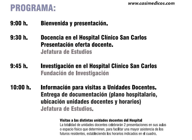 Hospital cl nico san carlos jornada de puertas abiertas for Puerta k hospital clinico san carlos
