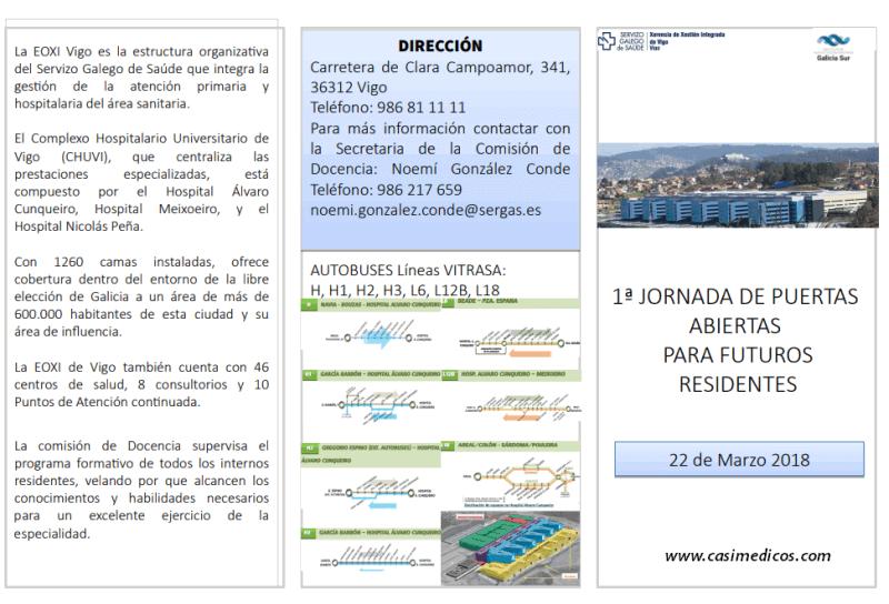 Jornada de puertas abiertas C.H Universitario de Vigo - EOXI Vigo @ Hospital Álvaro Cunqueiro | Vigo | Galicia | Spain