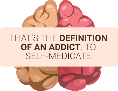 brain showing gambling addiction is a form of self medicating