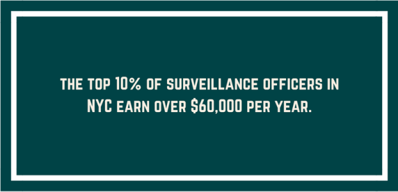 text showing NYC casino security officers earn more than any other place in the USA