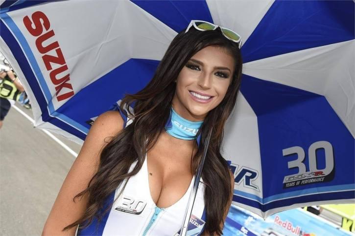 Popular model and recent Formula One grid girl