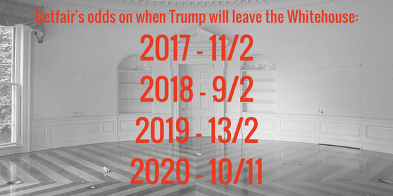 empty whitehouse with trump odds
