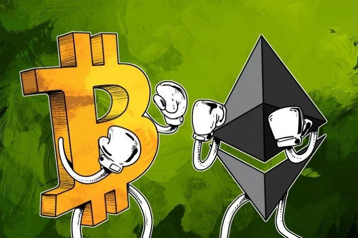 The battle between two of the biggest cryptocurrencies