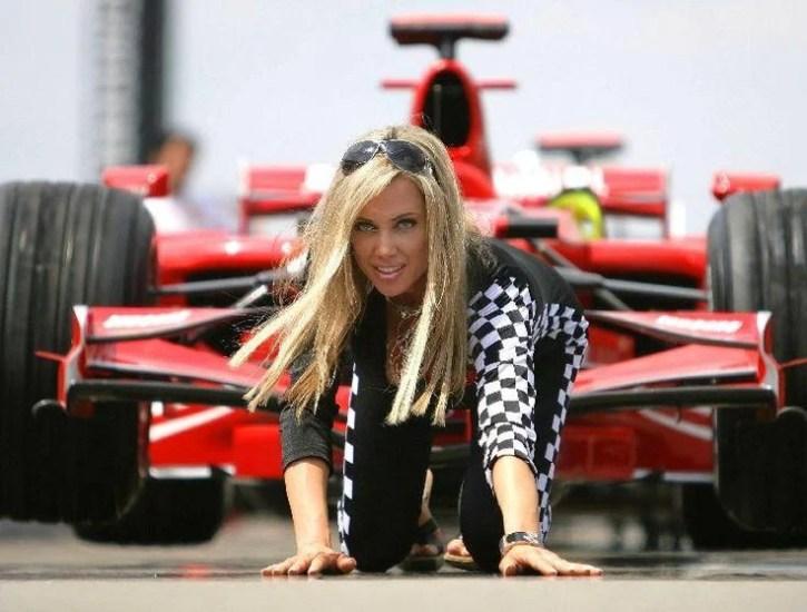 US Model Bridget Lee as a grid girl at the Formula One