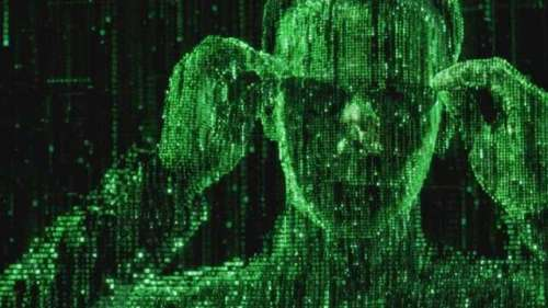 green man made of code